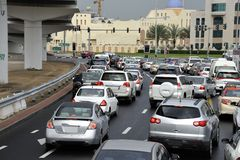 Rush hour in Dubai Stock Image