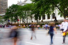 Rush hour on Fifth Avenue, New York Stock Image