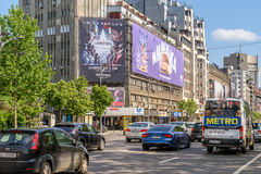 Rush Hour On Gheorghe Magheru Boulevard Of Bucharest Royalty Free Stock Photos