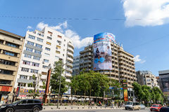 Rush Hour On Gheorghe Magheru Boulevard Of Bucharest Stock Photo