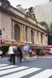 Rush hour at Grand Central, New York. Motion blur of people going to Grand Central Station located in midtown Manahattan, New York Stock Image