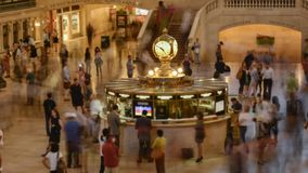 Rush hour at Grand Central Station stock video footage