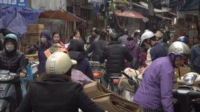 Rush hour in Hanoi stock video