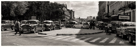 Rush Hour In Havana Royalty Free Stock Photography