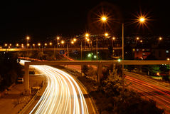 Rush hour on highway Royalty Free Stock Photo