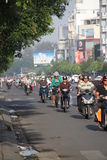 Rush hour in Ho Chi Min City. Rush hour traffic in Ho Chi Minh City in Vietnam Stock Photo