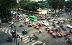 Rush hour in Ho Chi Minh City, Vietnam royalty free stock image
