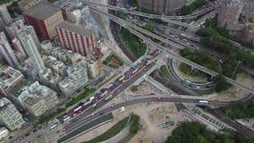 Rush hour at Hong Kong. Rush hour at Kowloon of Hong Kong stock video footage