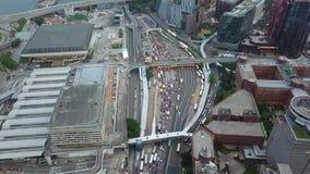 Rush hour at Hong Kong. Rush hour at Kowloon of Hong Kong stock footage