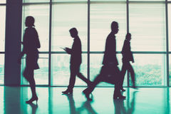 Rush hour. Image of businesspeople during the rush hour royalty free stock photo