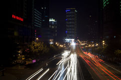 Rush hour lights Stock Images