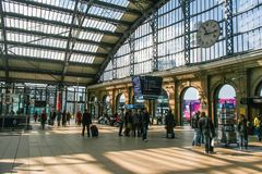 Rush hour at Liverpool Lime Street train station Royalty Free Stock Image