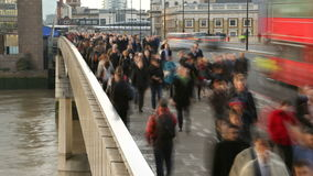 Rush hour on London Bridge. 4K / UHD stock video