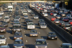 Heavy traffic jam during rush hour in Los Angeles, California Stock Image