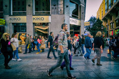 Rush hour in Madrid Stock Images