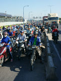 Rush hour, motorbike, traffic jam, Asian city Stock Photography