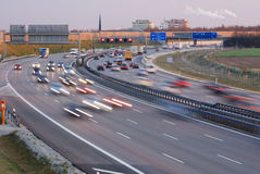 Rush-hour at munich. Rush-hour on the autobahn at munich Royalty Free Stock Image