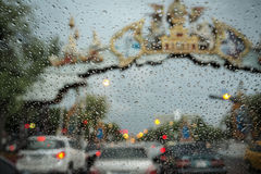Rush hour in rain Stock Images