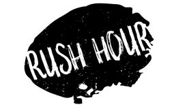 Rush Hour rubber stamp. Grunge design with dust scratches. Effects can be easily removed for a clean, crisp look. Color is easily changed Stock Photos
