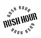 Rush Hour rubber stamp Stock Image
