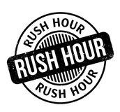 Rush Hour rubber stamp Royalty Free Stock Images