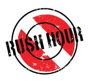 Rush Hour rubber stamp Royalty Free Stock Photography