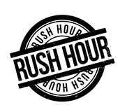 Rush Hour rubber stamp Stock Images