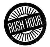 Rush Hour rubber stamp Royalty Free Stock Image