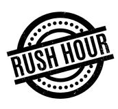 Rush Hour rubber stamp. Grunge design with dust scratches. Effects can be easily removed for a clean, crisp look. Color is easily changed Royalty Free Stock Photos