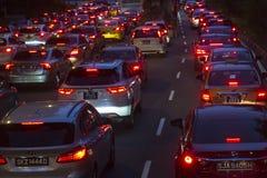 Rush hour in Singapore Stock Photos