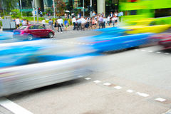Rush hour in Singapore Royalty Free Stock Photos