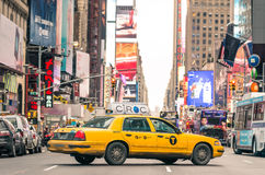 Rush hour in 7th Avenue of Manhattan - New York City Royalty Free Stock Photography