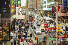 Rush hour at Times square in New York City stock photography