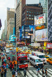 Rush hour at Times square in New York City Stock Images