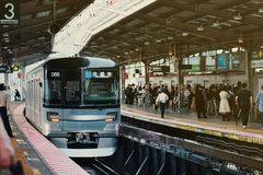 Rush hour in Tokyo royalty free stock photo