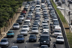 Rush hour traffic Stock Photos