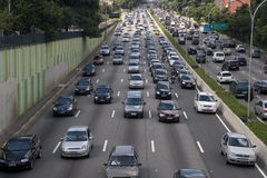 Rush hour traffic Royalty Free Stock Photography