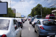 Rush hour traffic. Traffic jam at rush hour in Bucharest, Romania Royalty Free Stock Photography