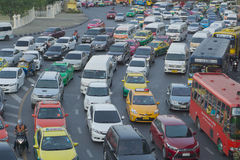 Rush hour traffic on April 9 2016 in Bangkok Thailand Stock Images