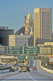 Rush Hour Traffic, Baltimore, Maryland Royalty Free Stock Photo