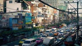 Rush Hour Traffic In Bangkok Thailand