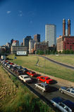 Rush Hour Traffic in Boston, MA Royalty Free Stock Images