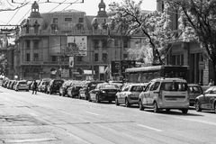 Rush Hour Traffic Downtown Of Bucharest City Stock Photography
