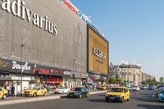 Rush Hour Traffic In Downtown Bucharest City Royalty Free Stock Photos