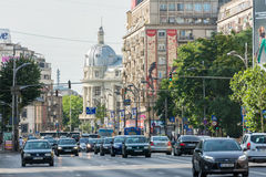 Rush Hour Traffic Downtown Bucharest Royalty Free Stock Photo