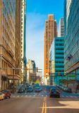 Streets of Downtown Detroit Royalty Free Stock Photos