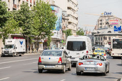 Rush Hour Traffic In Downtown Roman Square Royalty Free Stock Image