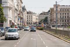 Rush Hour Traffic On Downtown Streets Of Vienna City Royalty Free Stock Photos