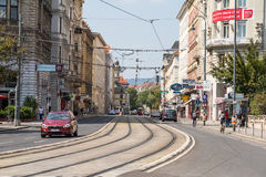 Rush Hour Traffic On Downtown Streets Of Vienna City Stock Photos