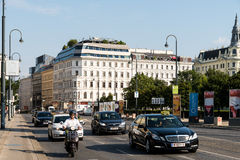 Rush Hour Traffic On Downtown Streets Of Vienna City Royalty Free Stock Image